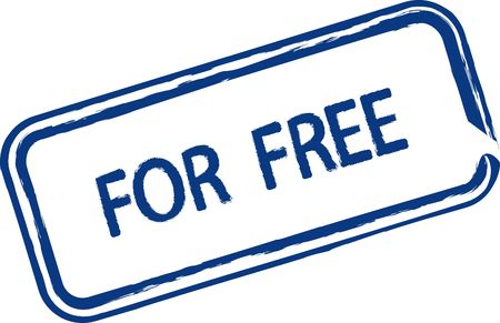 freeware: An illustrated stamp that says that something is for free. All on white background.