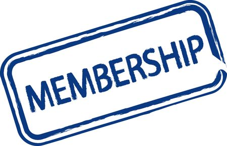 fellowship: An illustrated stamp that declares a membership. All on white background. Stock Photo