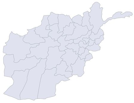 plotting: A stylized map of Afghanistan showing the different provinces.