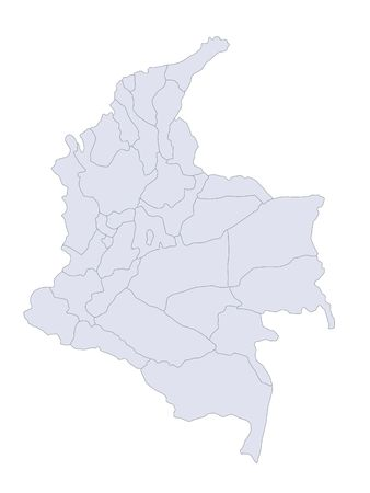 plotting: A stylized map of Colombia showing the different provinces.