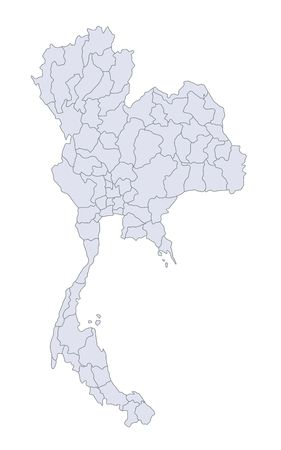thailander: A stylized mapof Thailand showing the different provinces.