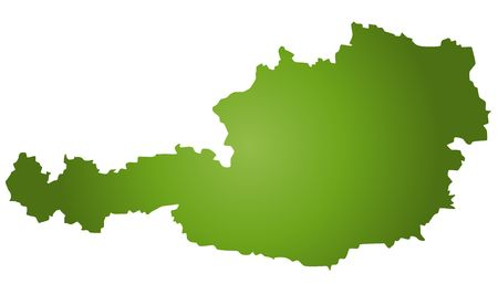 austria map: A stylized blank map of Austria in green tone. All isolated on white background.