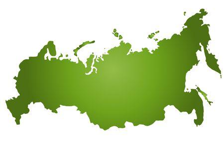 plotting: Stylizted map of Russia.
