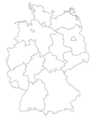 deutschland karte: Stilisierten Landkarte Deutschland.