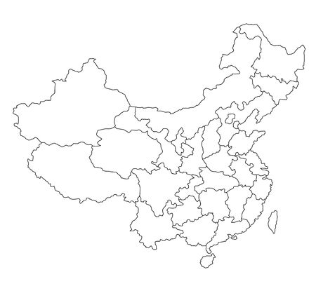 provinces: Stylized map of China.