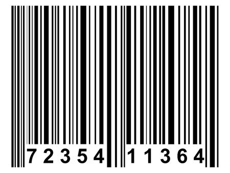 A simple barcode. All isolated on white background.. photo