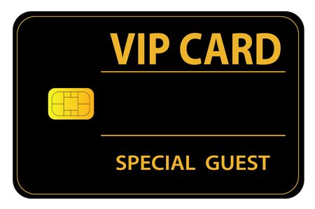 vip: A special card for very important persons. All isolated on white background.