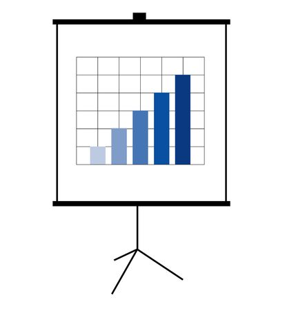 accounting logo: A stylized flip chart diagram. All isolated on white background.