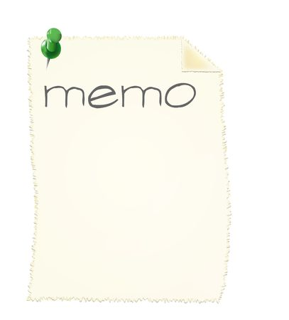 A blank memo slip. All isolated on white background. photo