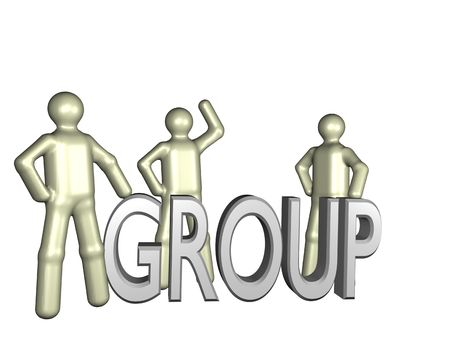 newsgroup: Several stylized persons beside a lettering. All isolated on white background.
