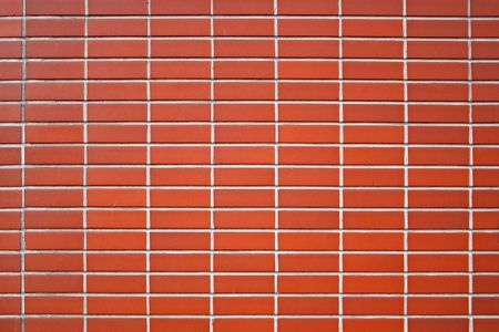 walling: A texture of a red brick wall. Useful as background. Stock Photo