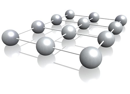 coherence: A 3d illustration symbolizing networking. All on white background. Stock Photo
