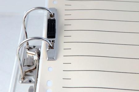 Chupito de detalle de un archivo de documento típico de relleno.