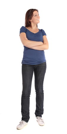 Attractive young woman standing Stock Photo - 7864927