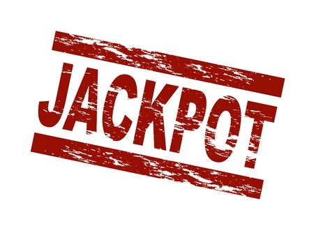 Stylized red stamp showing the term jackpot. All on white background. Stock Photo - 8565176