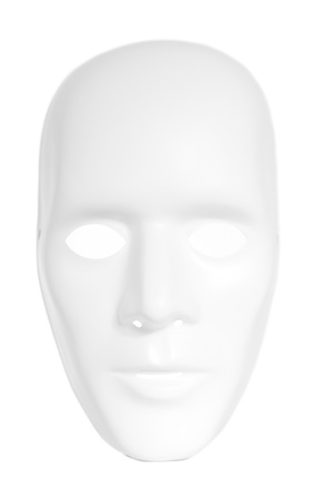 anonym: White mask. All isolated on white background.