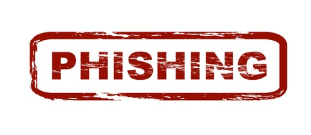 Stylized red stamp with the caption phishing. All on white background.  Stock Photo - 8488387