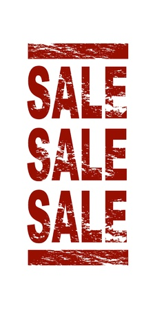 A stylized red stamp showing the term sale sale sale. All on white background. Stock Photo - 8565148