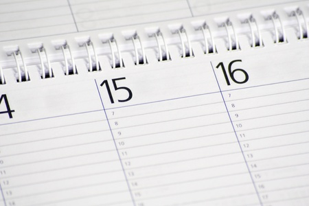 appointed: Standard calendar showing the middle of the month.