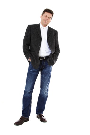Attractive middle-aged man. All on white background. Stock Photo - 8824710