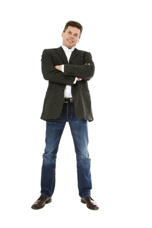 Confident middle-aged man. All on white background.  Stock Photo - 8824701