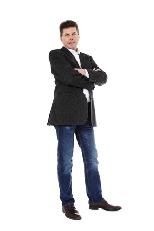 Attractive middle-aged man. All on white background.  Stock Photo - 8824709