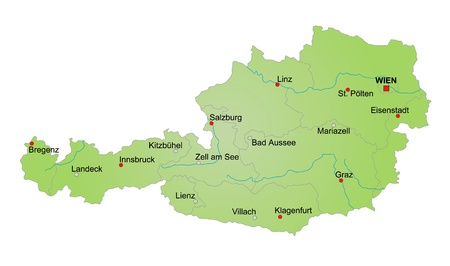 Map of Austria. Stock Photo - 9904897