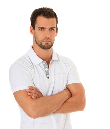 Seus looking man. All on white background.  Stock Photo - 9780737
