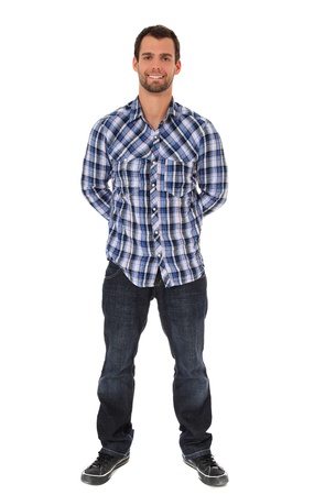 Full length shot of an attractive young man. All on white background.  photo