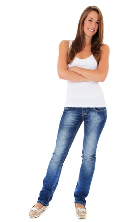 Full length shot of an attractive young woman. All on white background. Stock Photo - 10160159