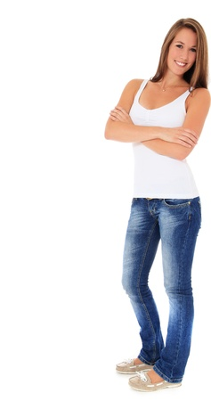 Full length shot of an attractive young woman. All on white background. Stock Photo - 10160165