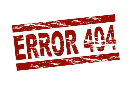 Stylized red stamp showing the term error 404. All on white background. Stock Photo - 10325684