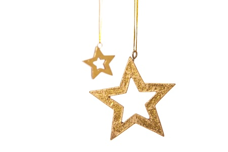 christmasy: Two decorative stars. Isolated on white background.