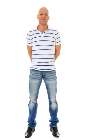 Full length shot of an attractive middle age man. All on white background.  photo