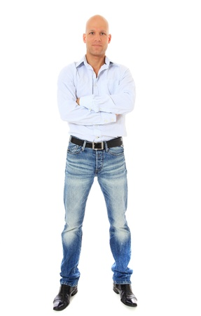 easy going: Full length shot of a confident middle age man. All on white background.
