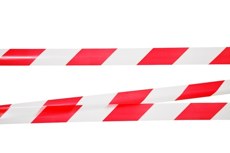 Lines of barrier tape  All on white background