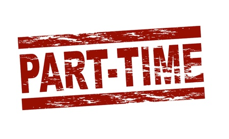 Stylized red stamp showing the term part-time  All on white background   Stock Photo - 12859951