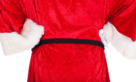 kris kringle: Rear view of Santa Claus in authentic look  All on white background