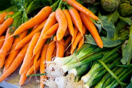 Fresh vegetables at market stall