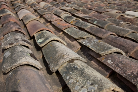 provencal: Traditional provencal roofing tiles  Background texture  Stock Photo