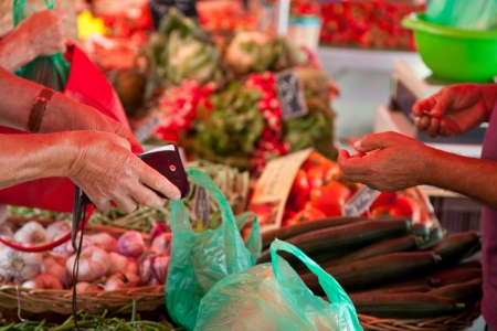 french riviera: Traditional provencal market at french riviera  Stock Photo