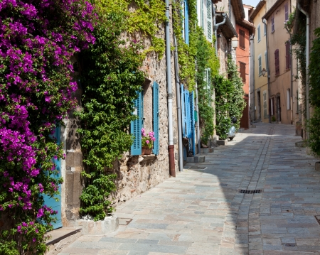Traditional provencal street scenery   Stock Photo