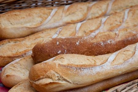 traditional goods: Freshly baked baguette