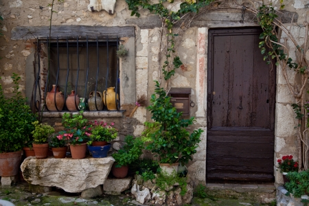 provencal: Traditional provencal home in Southern France   Stock Photo