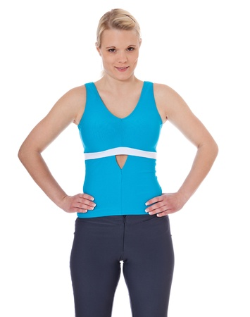 sports wear: Attractive young woman in sports wear