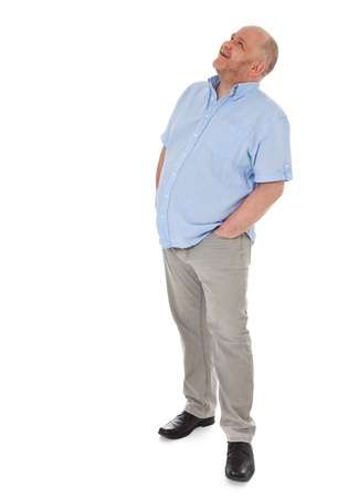 Charismatic grownup man looking up Standard-Bild