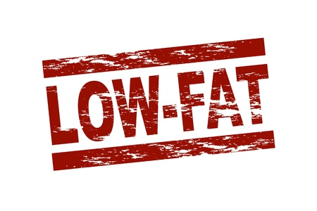 low fat: Stylized red stamp showing the term low-fat Stock Photo