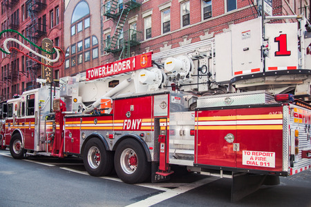 fire truck: New York City fire truck Editorial