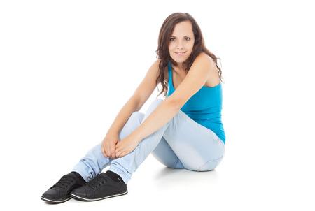 scandinavian descent: Full length shot of an attractive teenage girl Stock Photo