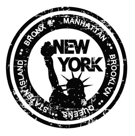 bronx: Grunge style badge with New York theme Stock Photo